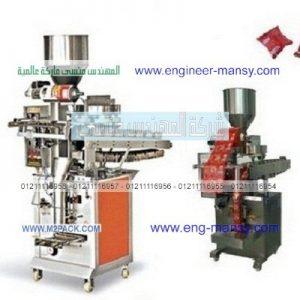 الماكينة الاتوماتيكية لتغليف الحلويات والكيك في اكياس فلو منسي باك